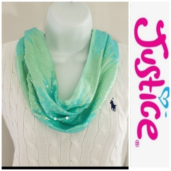Justice Other - Justice Girls one size Sequins infinity Scarf